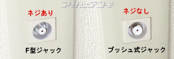 壁面テレビ端子の種類と解説-Asahi Satellite Page